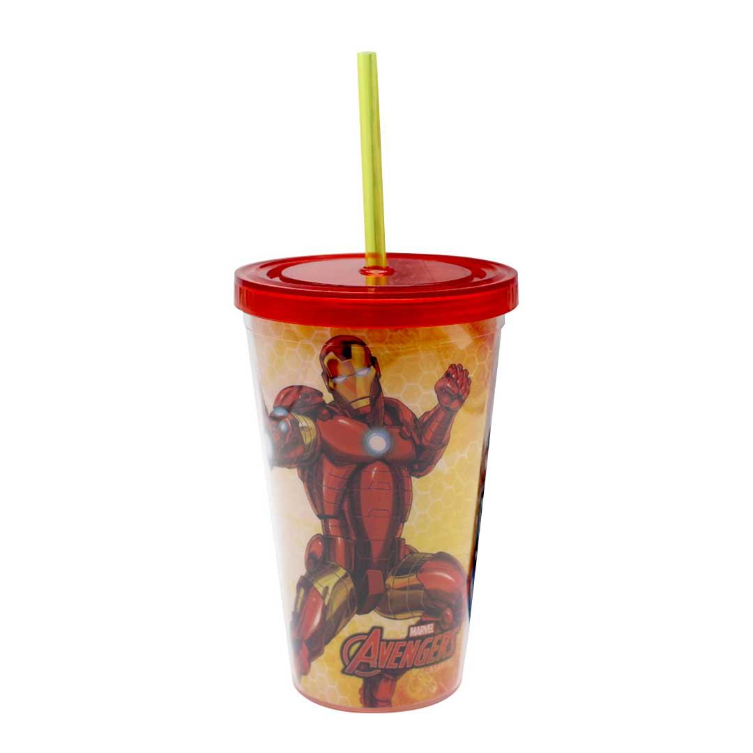 Copo com Canudo - Iron Man