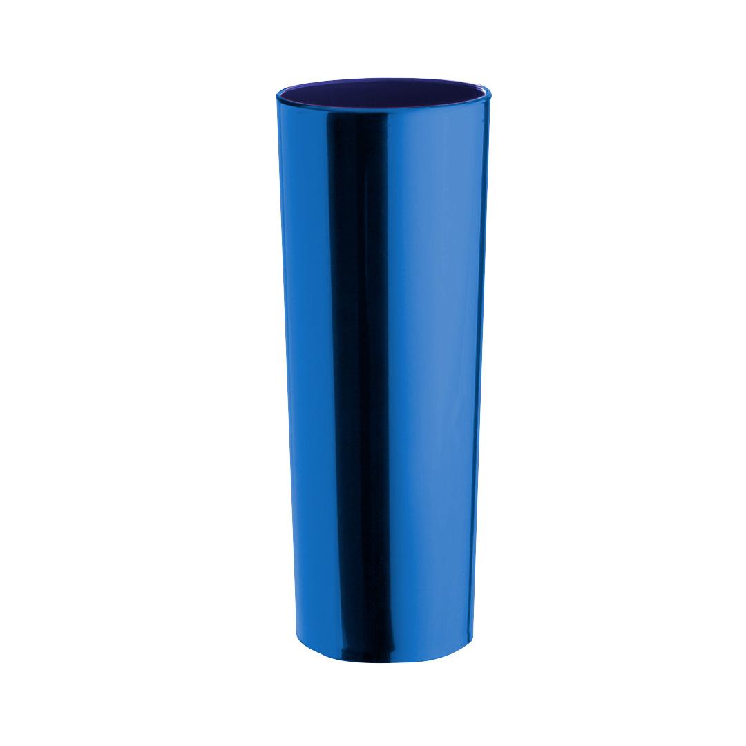 Copo Long Drink Metalizado - Azul Caneta