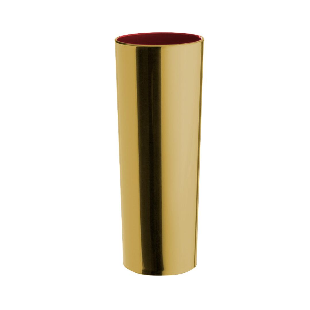 Copo Long Drink Metalizado - Dourado Interior Vermelho