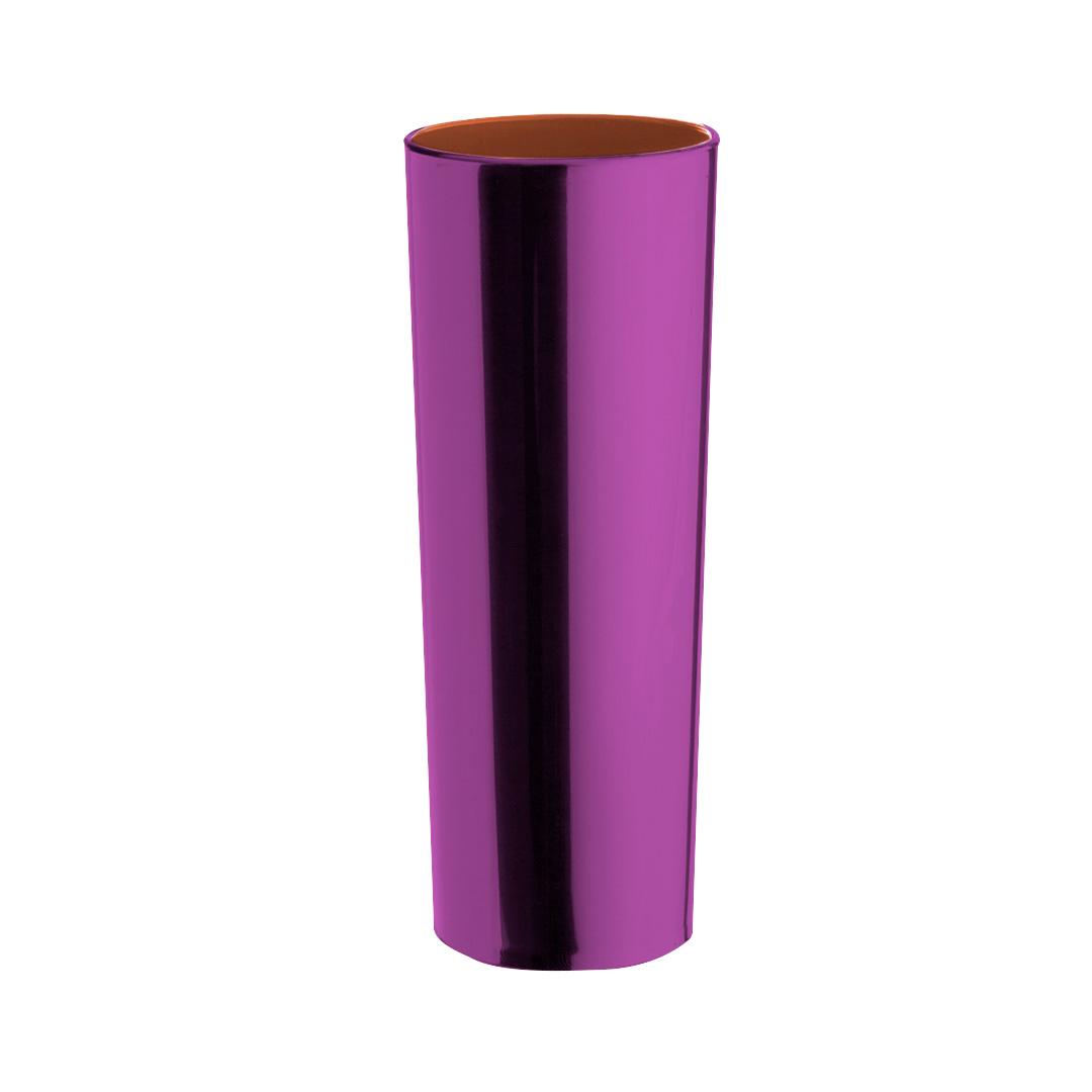 Copo Long Drink Metalizado - Rosa interior Rosa
