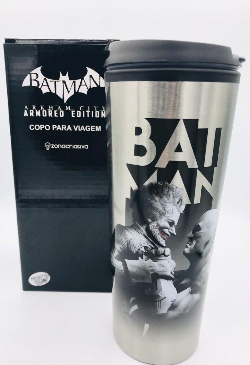 Copo para Viagem Batman Vs Coringa Arkham City