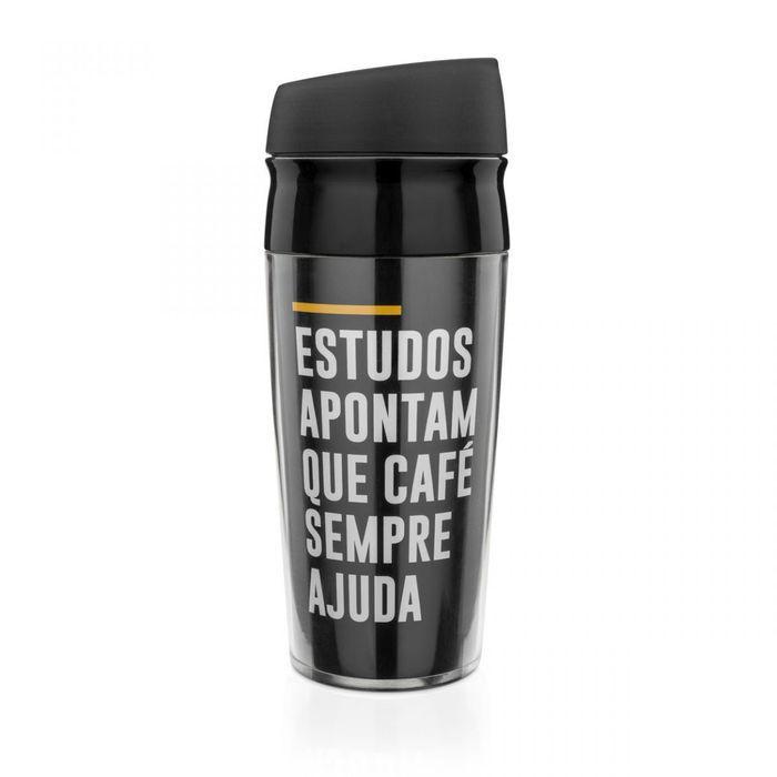 Copo para Viagem Frases Café Ajuda