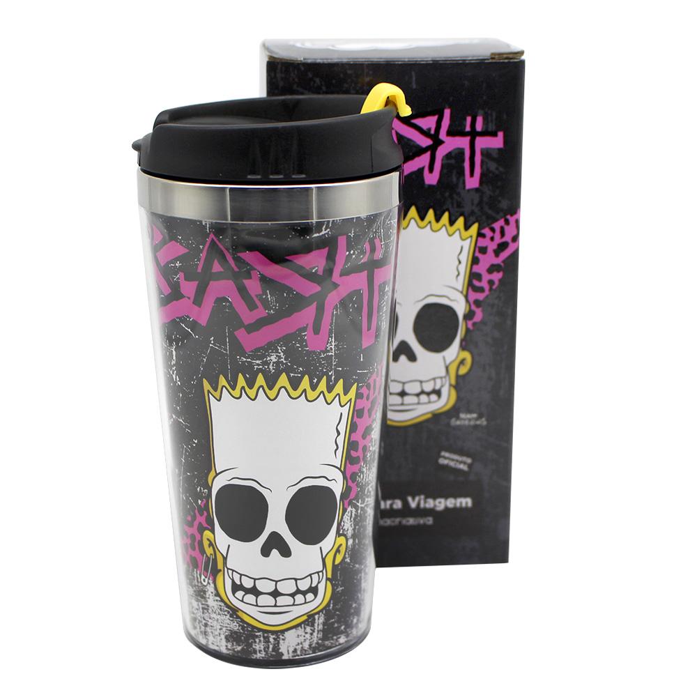 Copo Viagem com Tampa - Bart Punk 450ml
