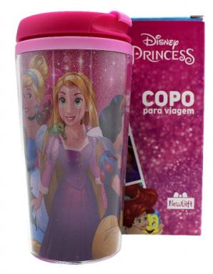 Copo Viagem com Tampa - Princesas 250ml