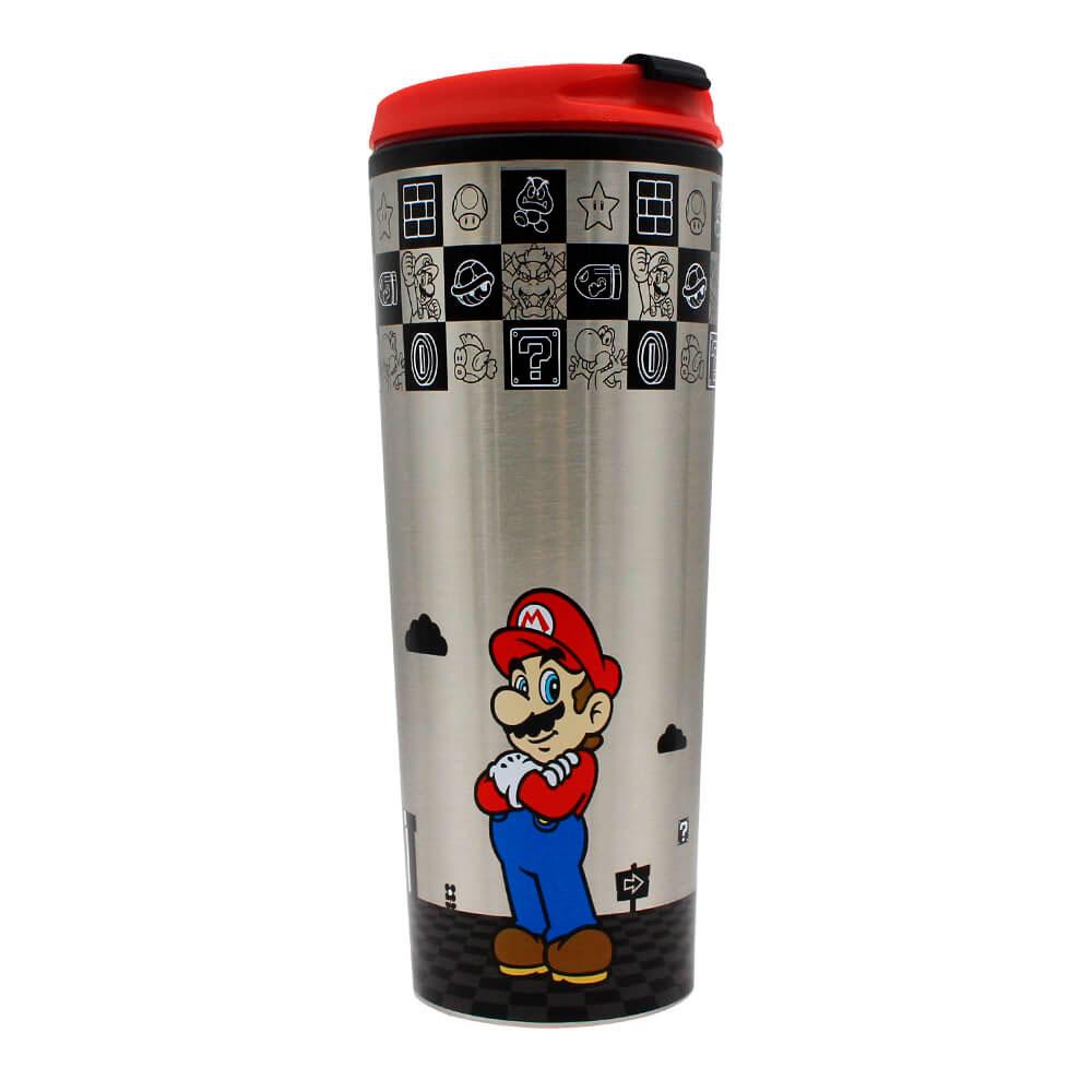 Copo Viagem Metal - Super Mario | Black 450ml