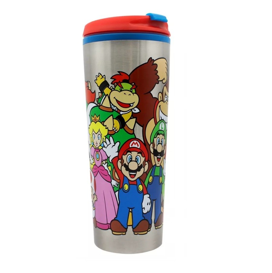 Copo Viagem Metal - Super Mario | Turma 450ml
