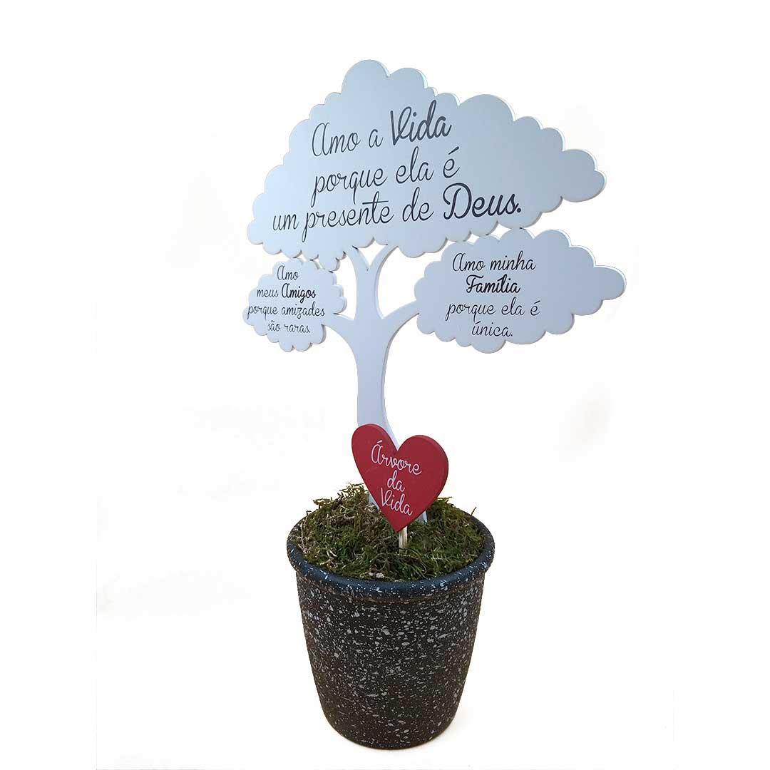 Enfeite Árvore com Balde - Árvore da Vida