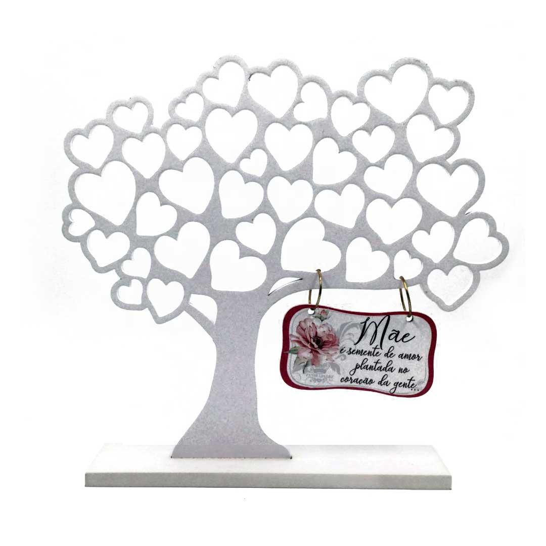 Enfeite Árvore Com Corações Mãe É Semente