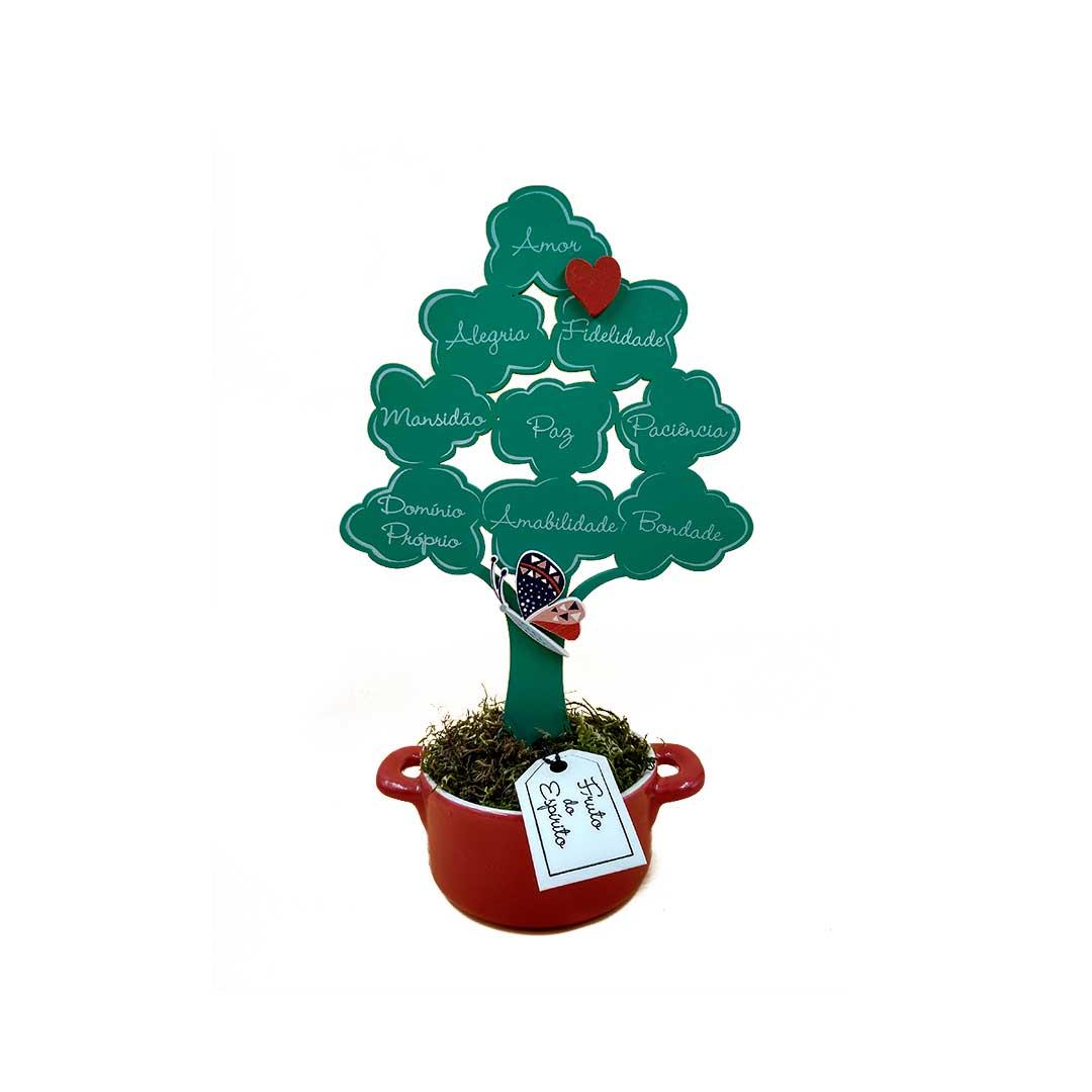 Enfeite Árvore com Panelinha - Frutos do Espírito Verde