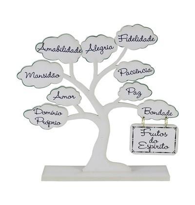 Enfeite Árvore - Fruto do Espírito Branca