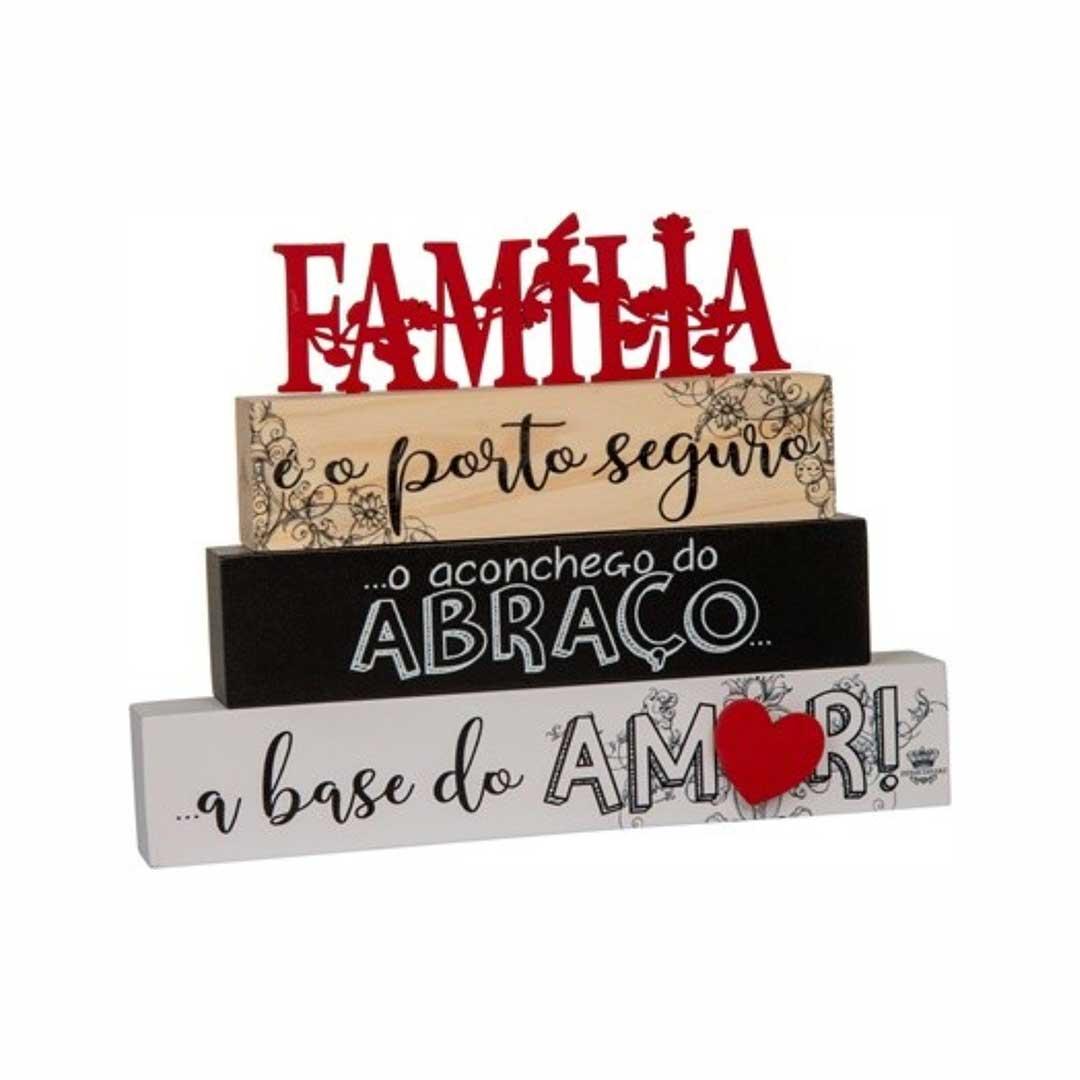 Enfeite de Mesa Frases - Família