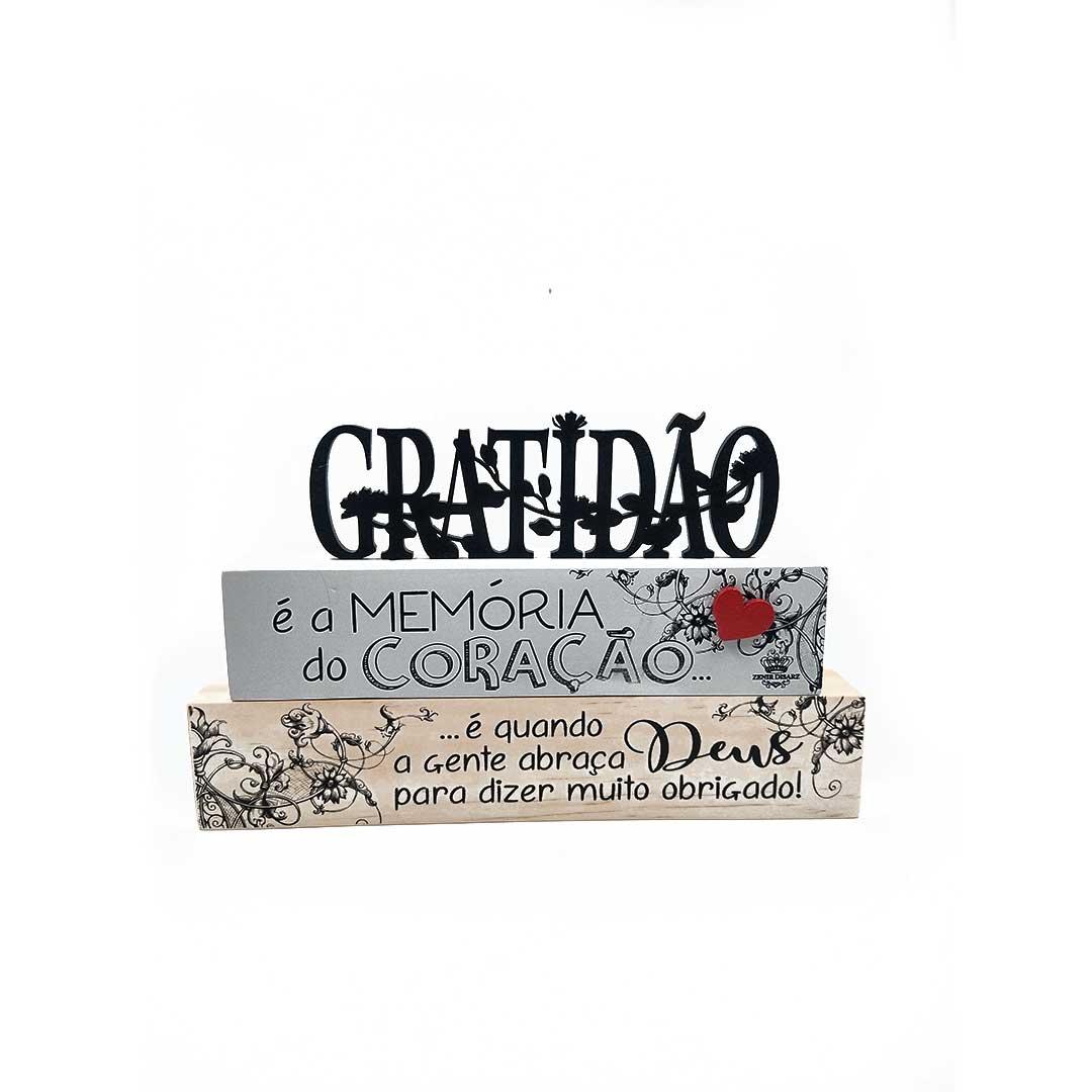 Enfeite de Mesa Frases - Gratidão