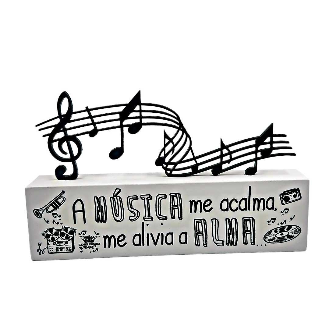 Enfeite de Mesa - Musica me Acalma