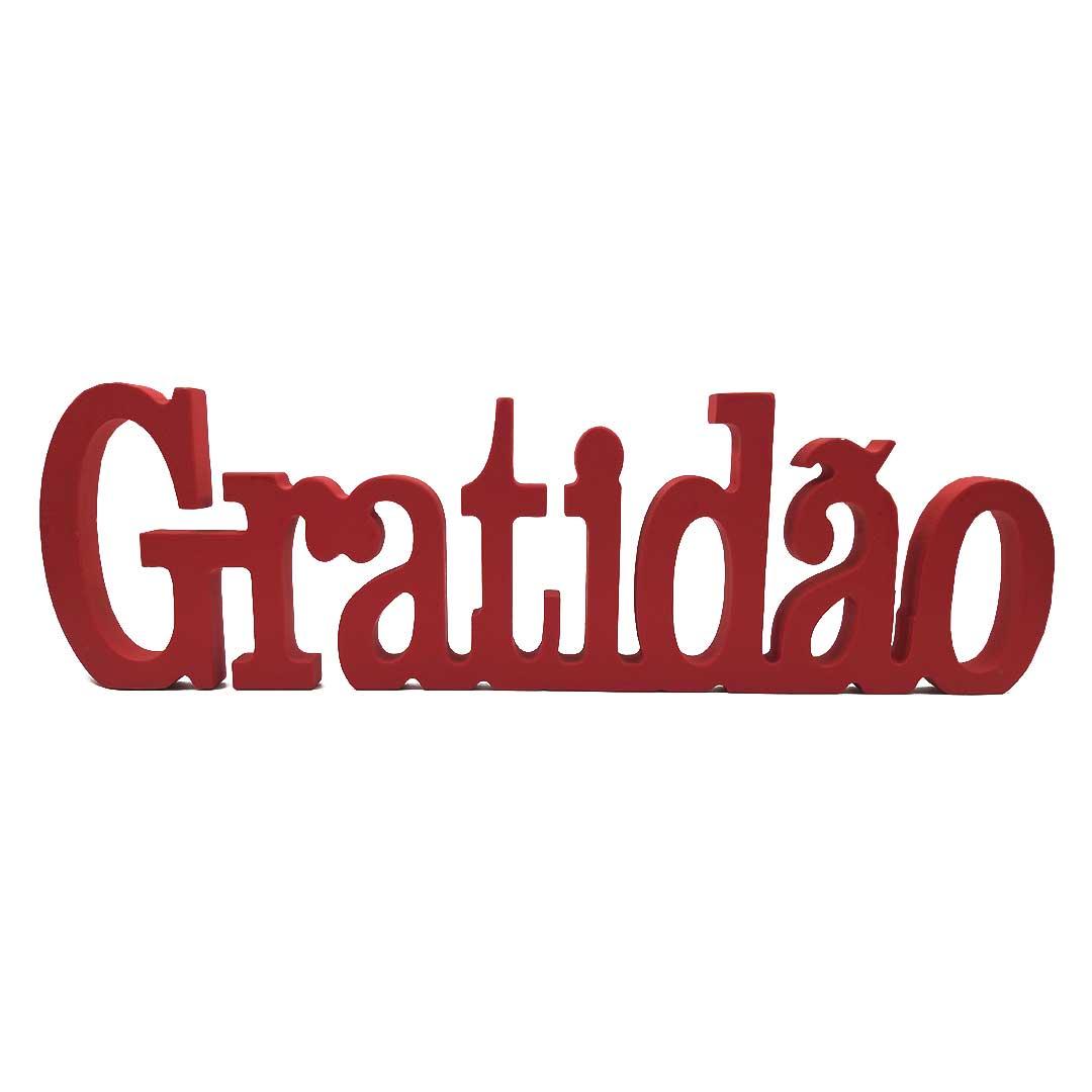 Enfeite de Mesa Palavra - Gratidão