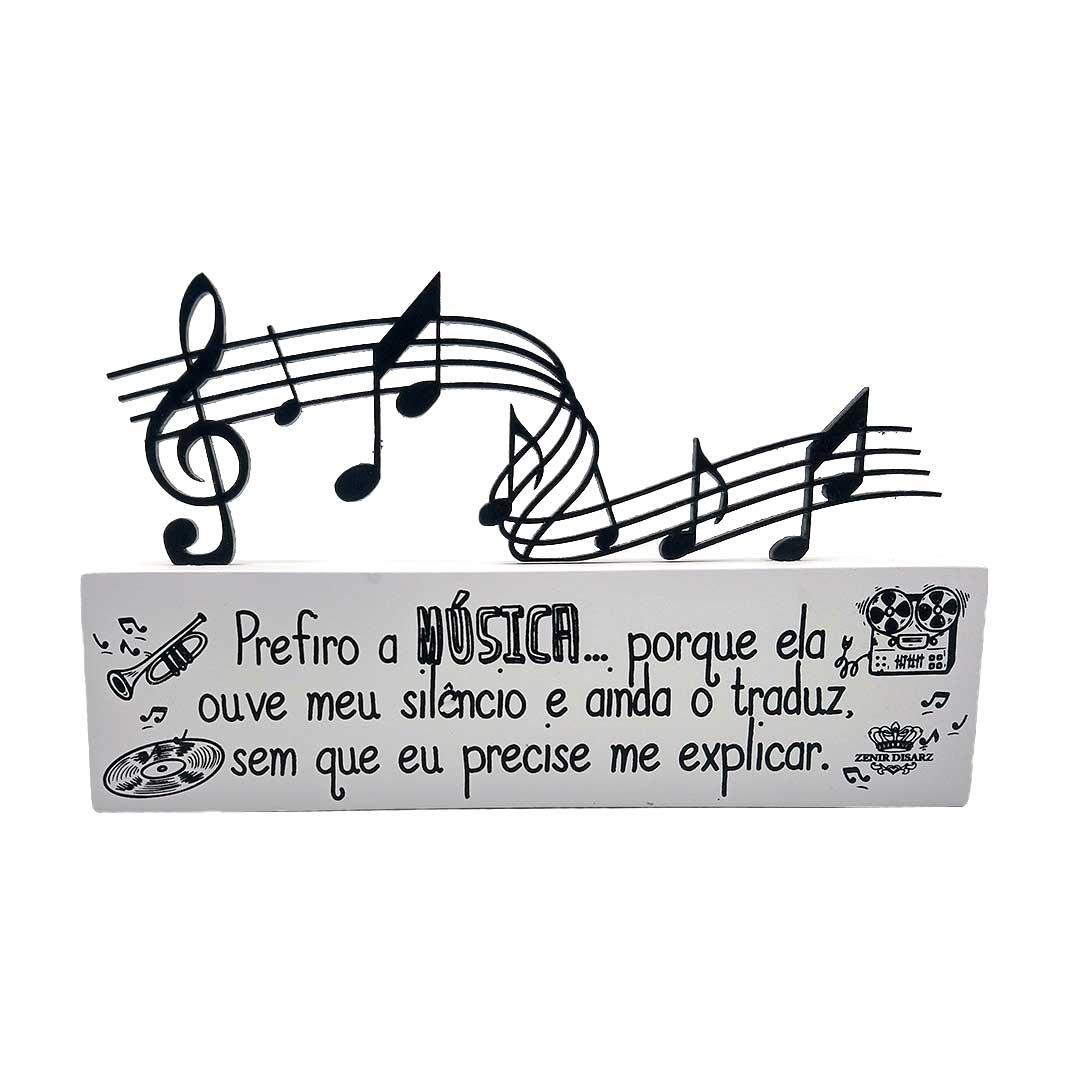 Enfeite de Mesa - Prefiro Música