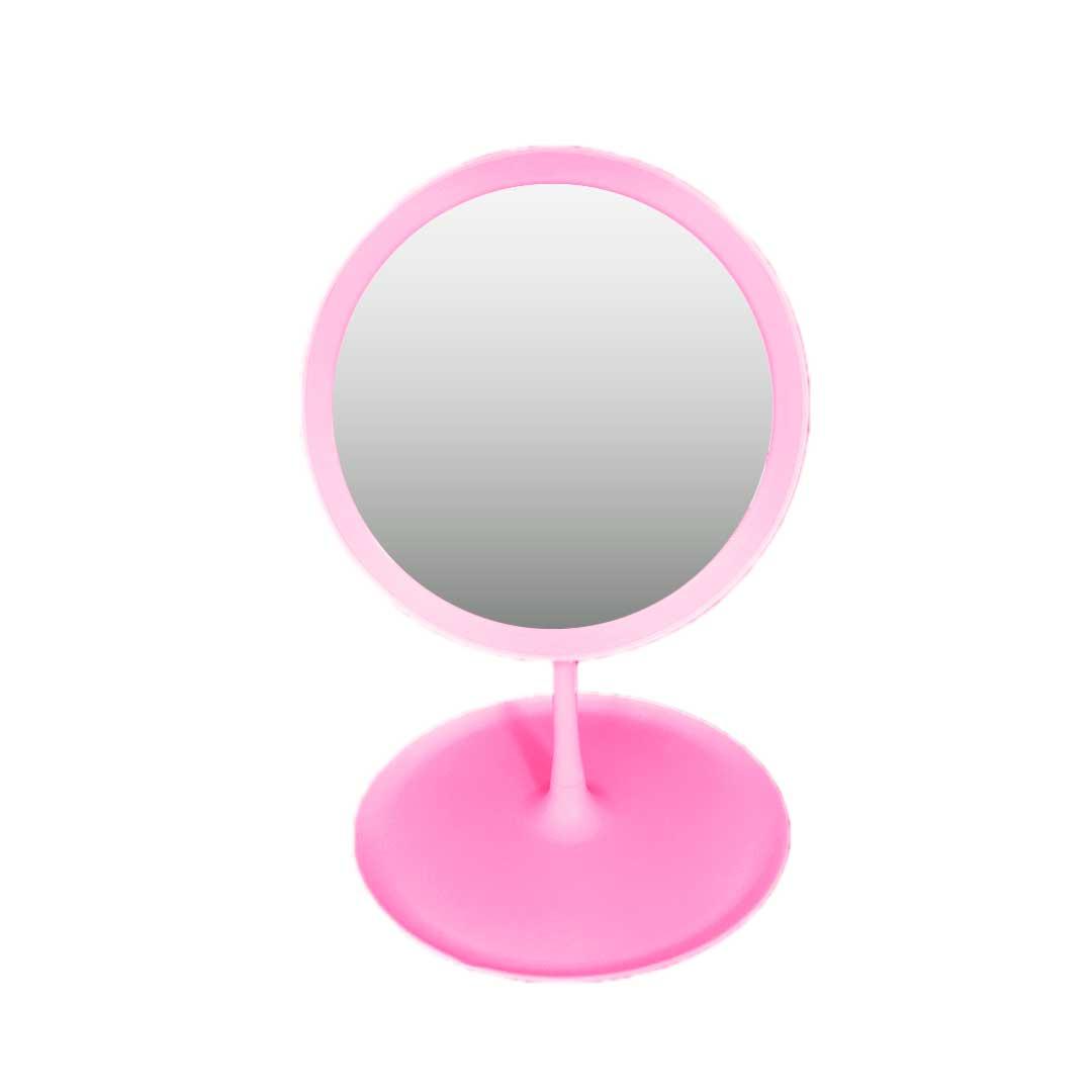Espelho de Maquiagem de LED - Rosa