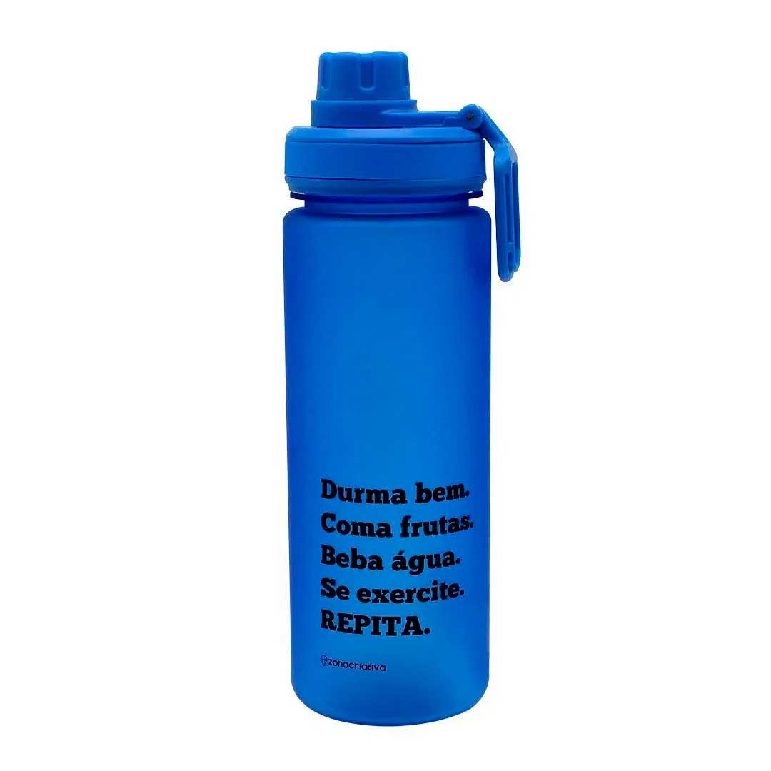 Garrafa com Tampa e Filtro - Beba Agua Azul 700ml