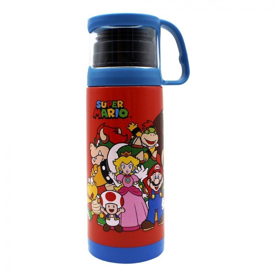 Garrafa com Xícara - Turma do Super Mario 350ml