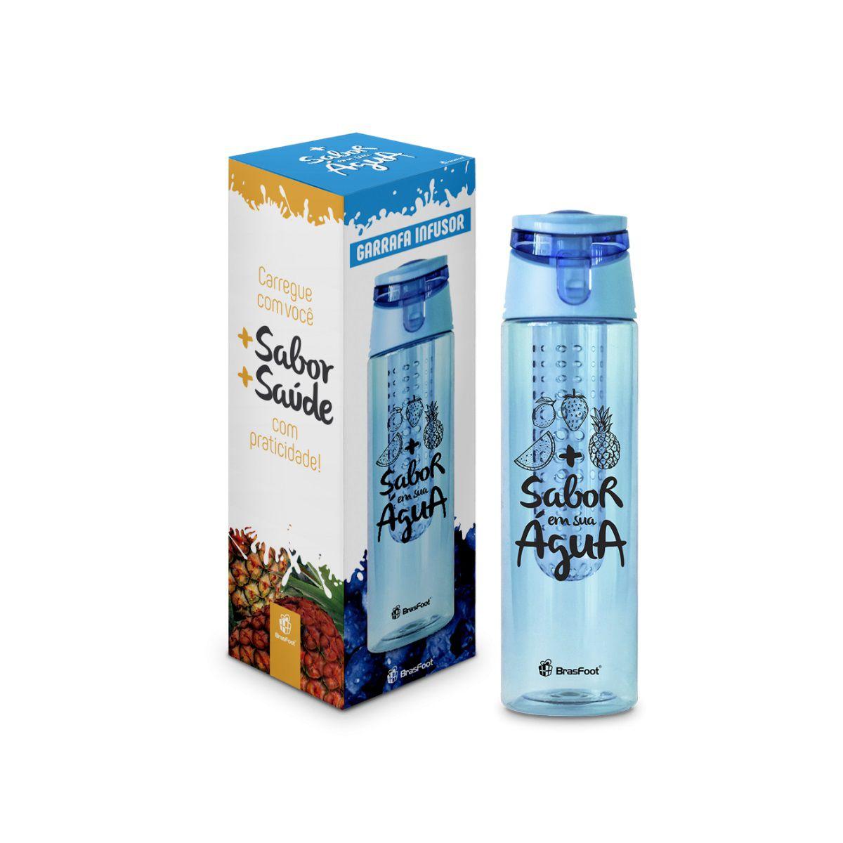Garrafa Infusor De Sabor 700ml - Azul