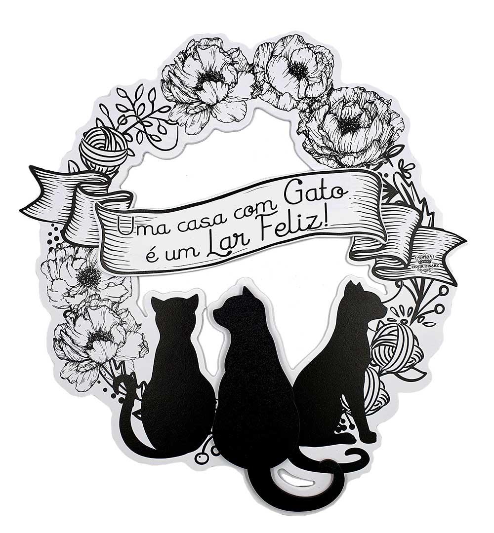 Guirlanda Uma Casa Com Gato