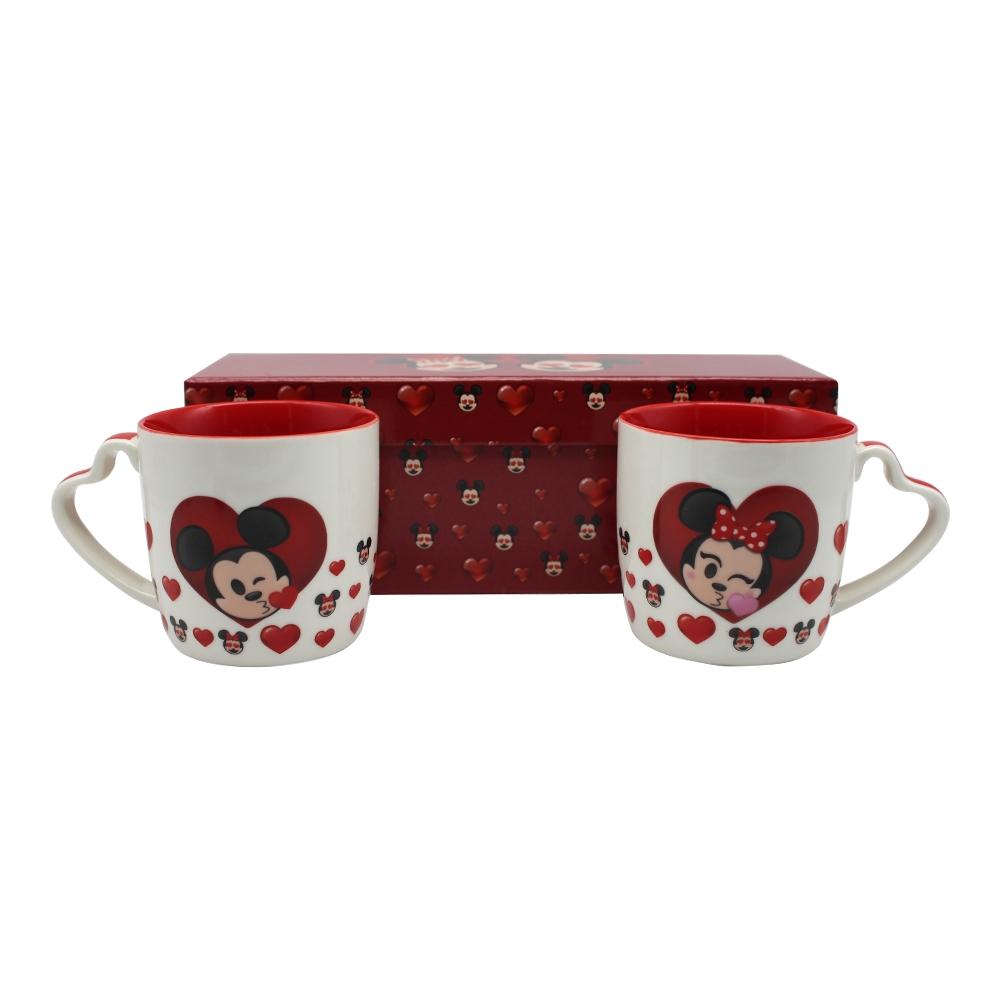 Kit 2 Canecas - Mickey e Minnie Emoji