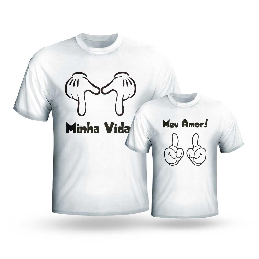 Kit Camisas - Meu Amor, Minha Vida