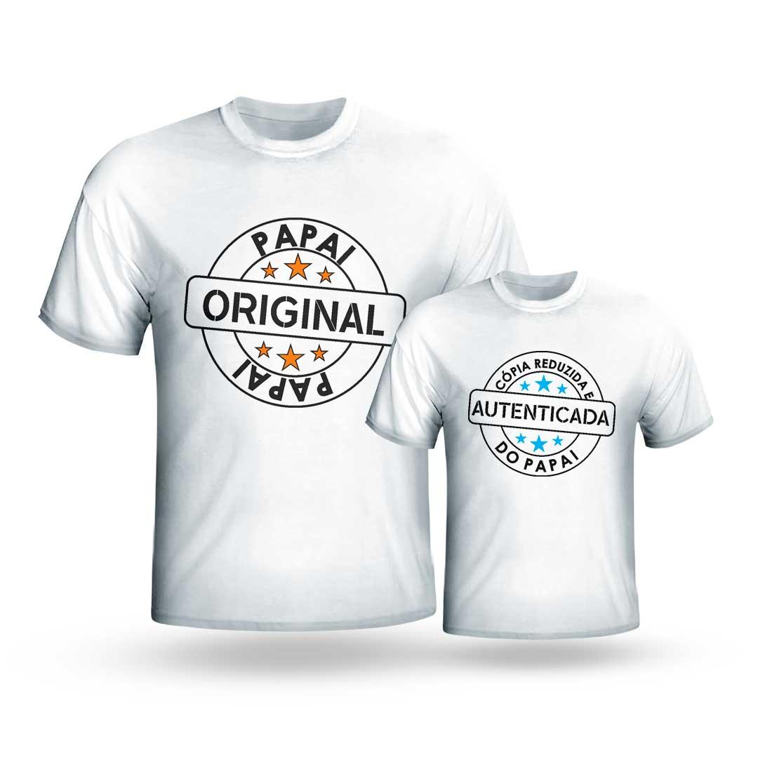 Kit Camisas - Papai Original, Cópia Autenticada do Papai