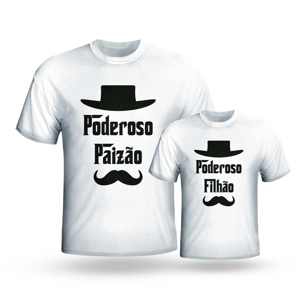 Kit Camisas - Poderoso Paizão