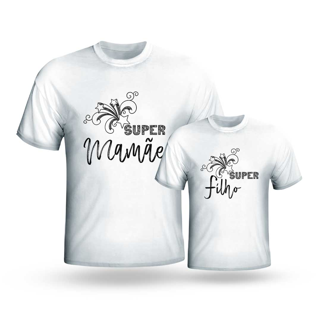 Kit Camisas - Super Mamãe