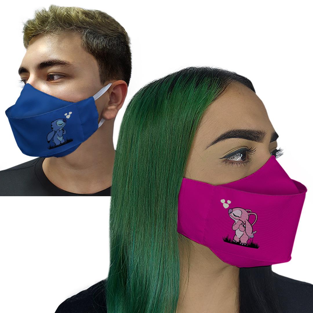 Kit Máscaras 3D - Casal Angel & Stitch