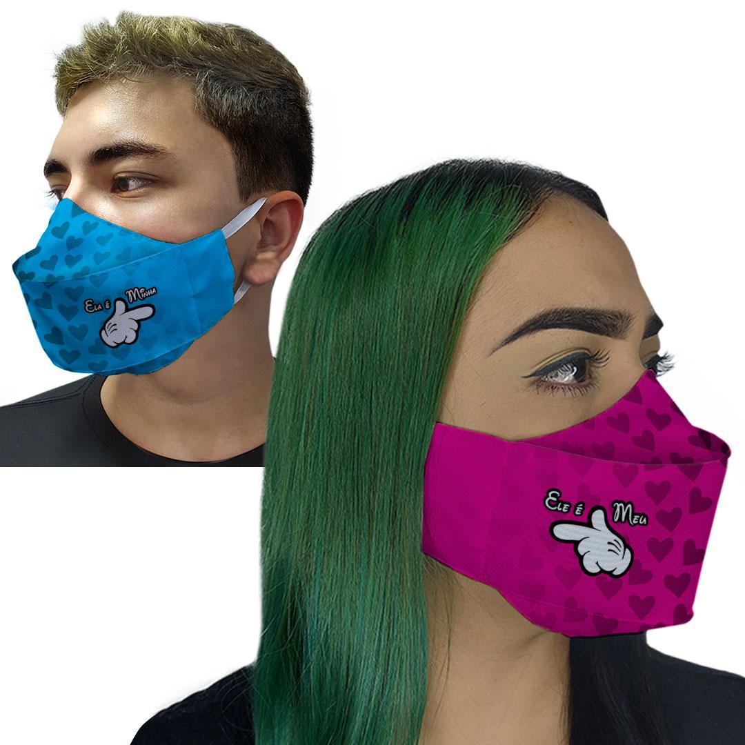 Kit Máscaras 3D - Casal É Meu