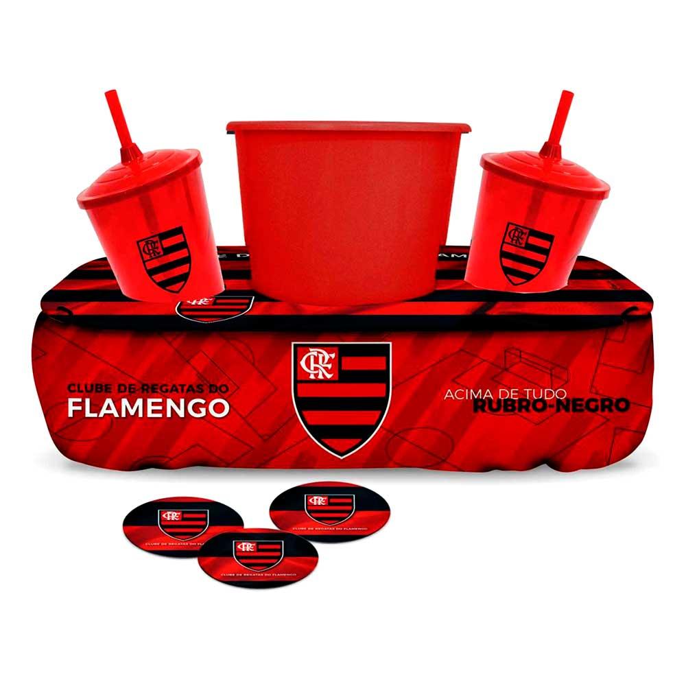 Kit Pipoca com Copos - Flamengo