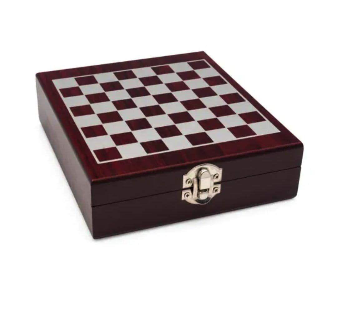 Kit Vinho Com Jogo De Xadrez