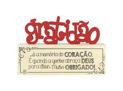 Madeirinha Cru Gratidão