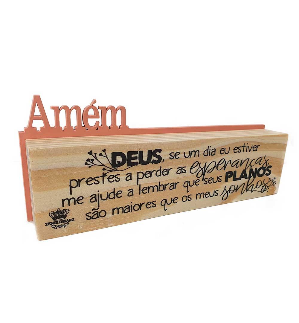 Madeirinha Dupla Amém Deus Se Um Dia Eu Estiver