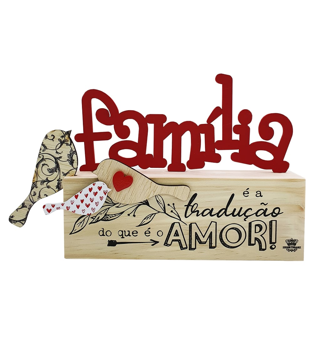 Madeirinha Família Com Apliques