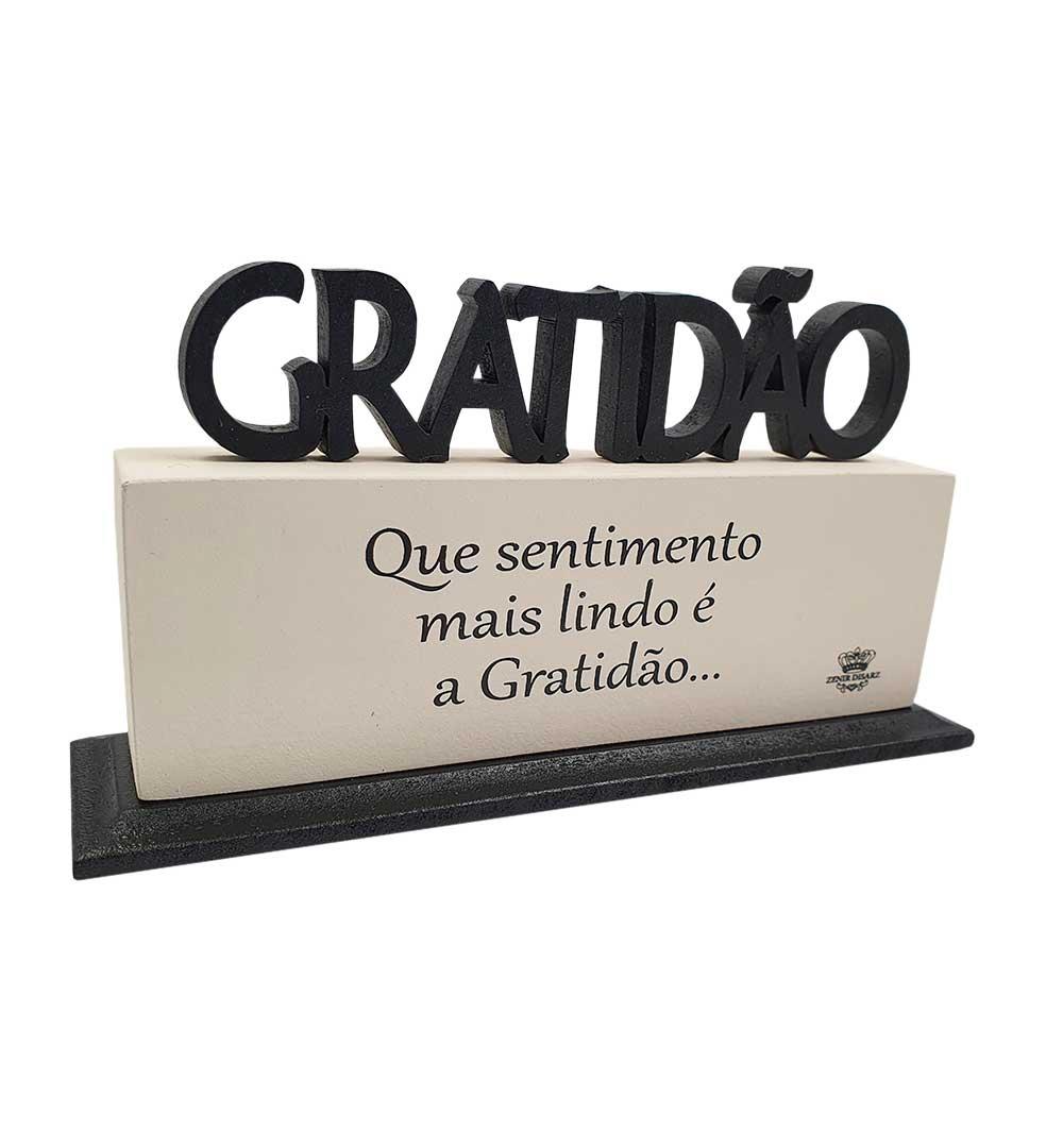 Madeirinha Gratidão