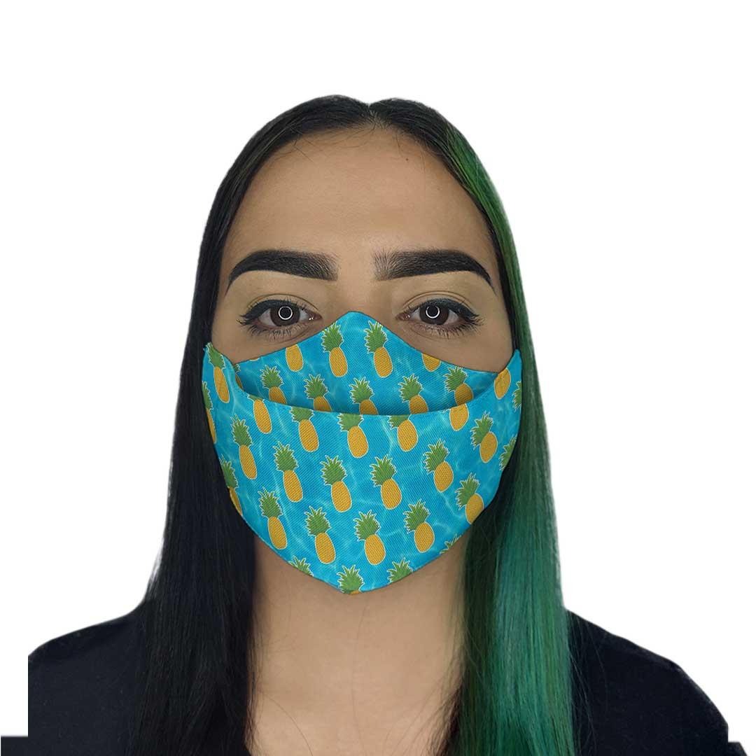 Máscara 3D - Abacaxi
