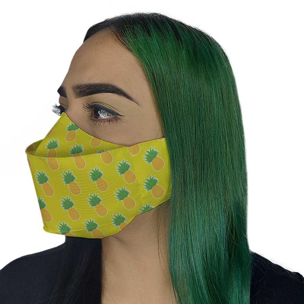 Máscara 3D - Abacaxi II