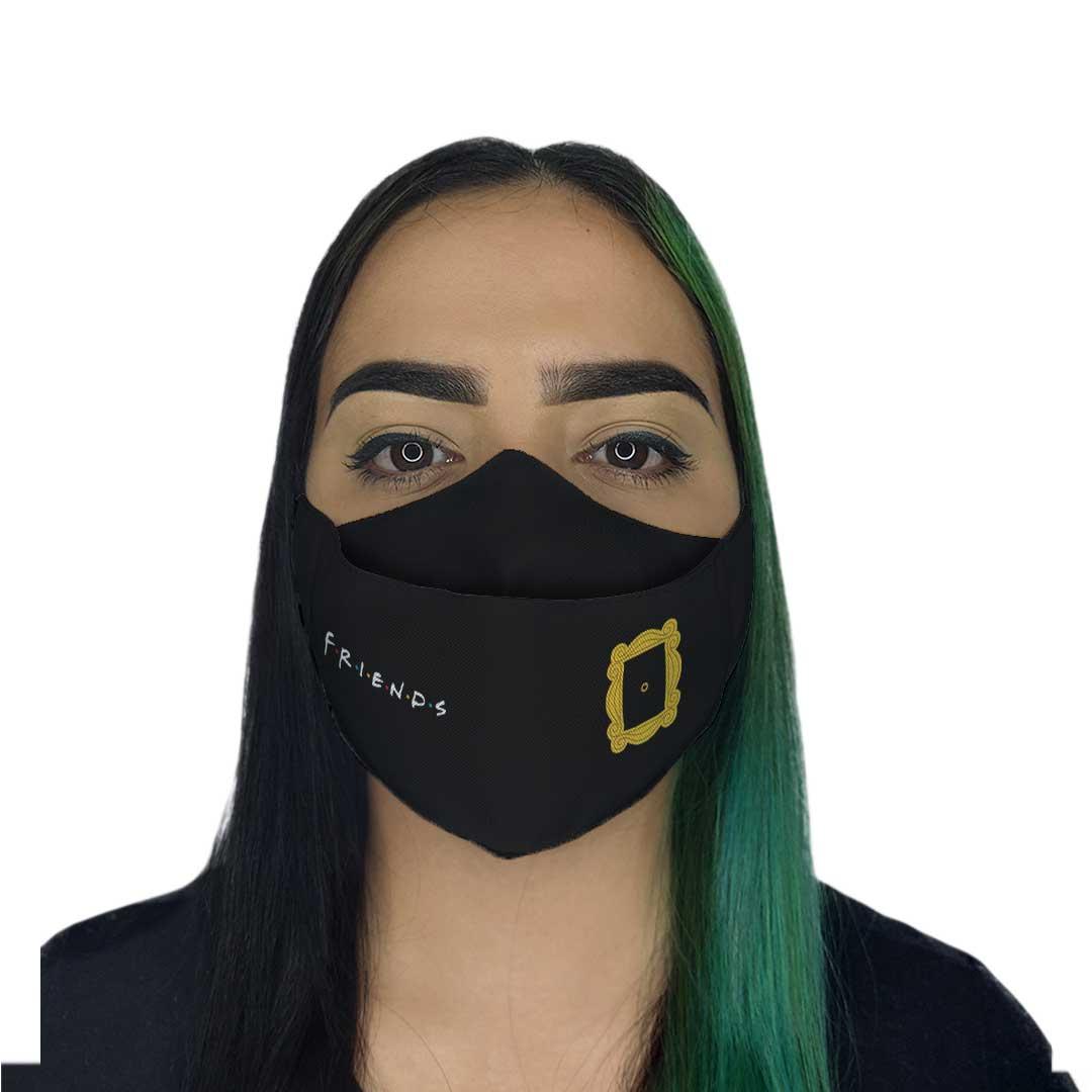 Máscara 3D - Amigos Preta