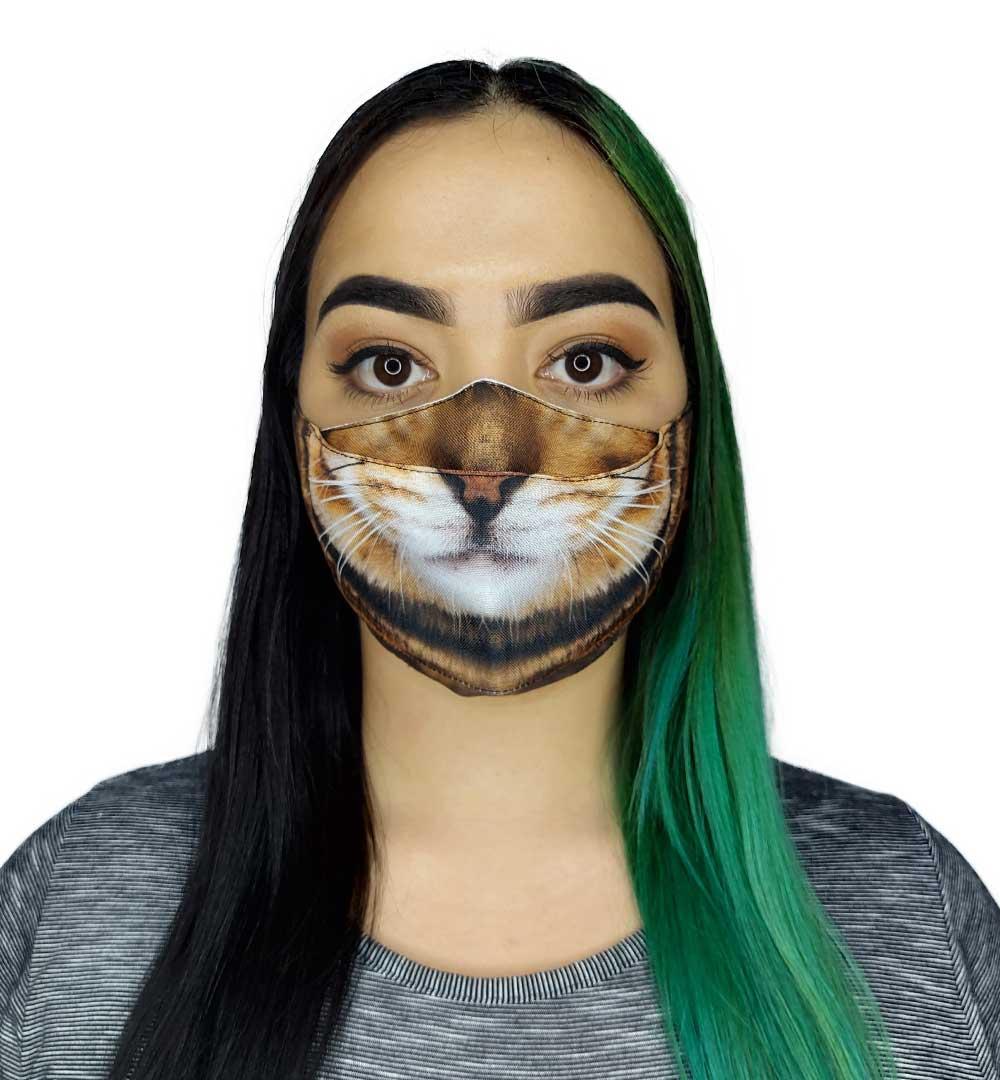 Máscara 3D Animais Focinho Gato