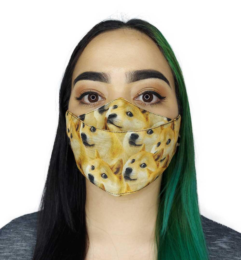 Máscara 3D Animais Meme