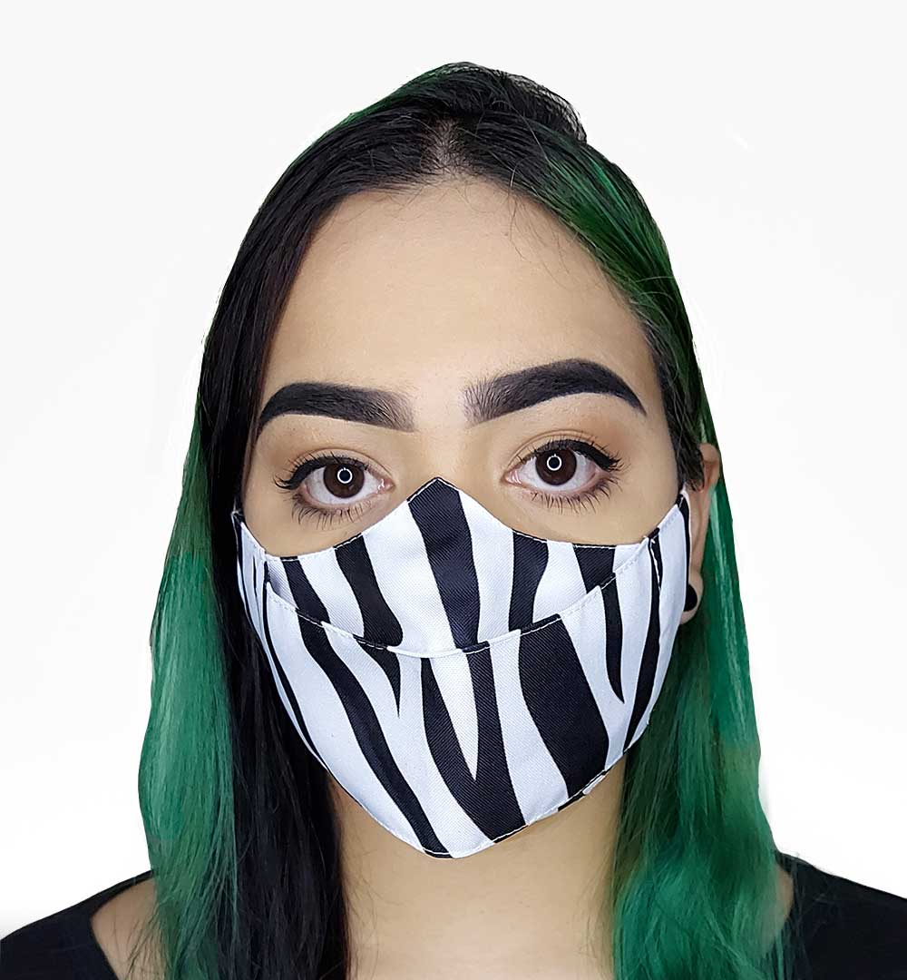 Máscara 3D Animais Zebra