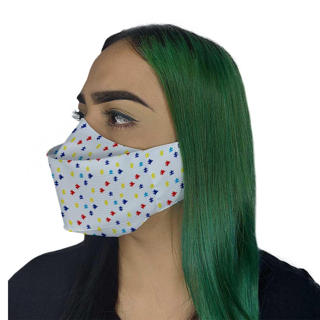 Máscara 3D - Autismo Branca