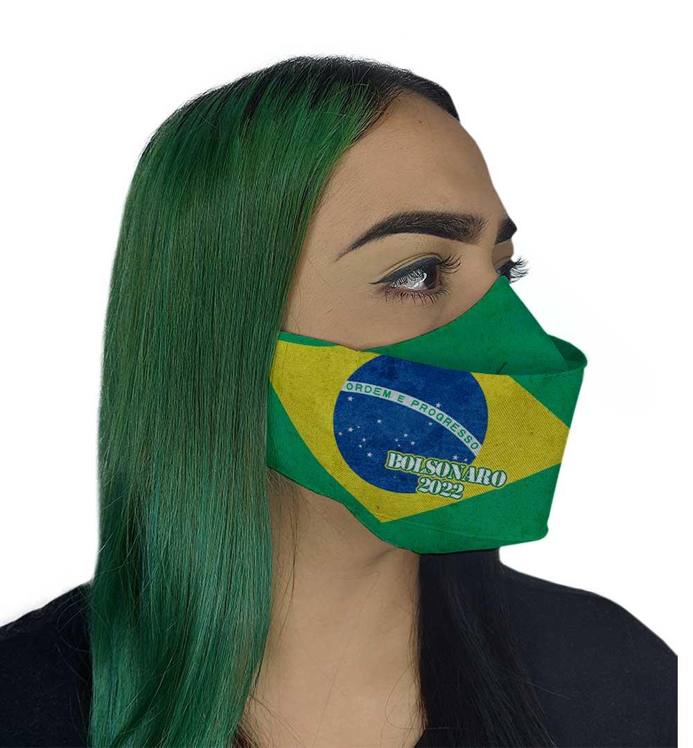 Máscara 3D - Bolsonaro 22