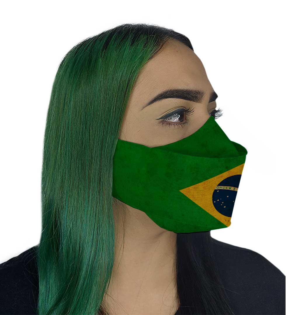 Máscara 3D - Brasil
