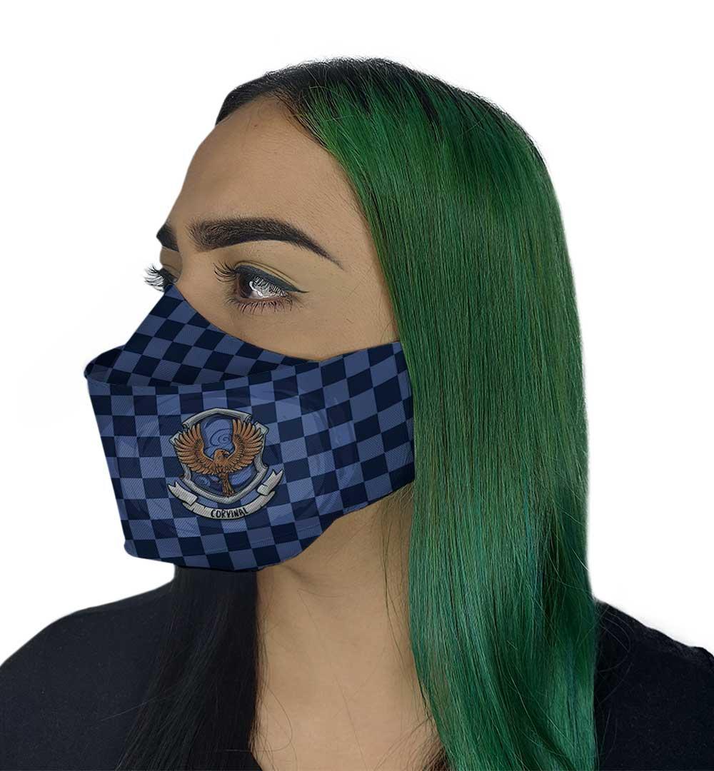 Máscara 3D - Bruxo Azul