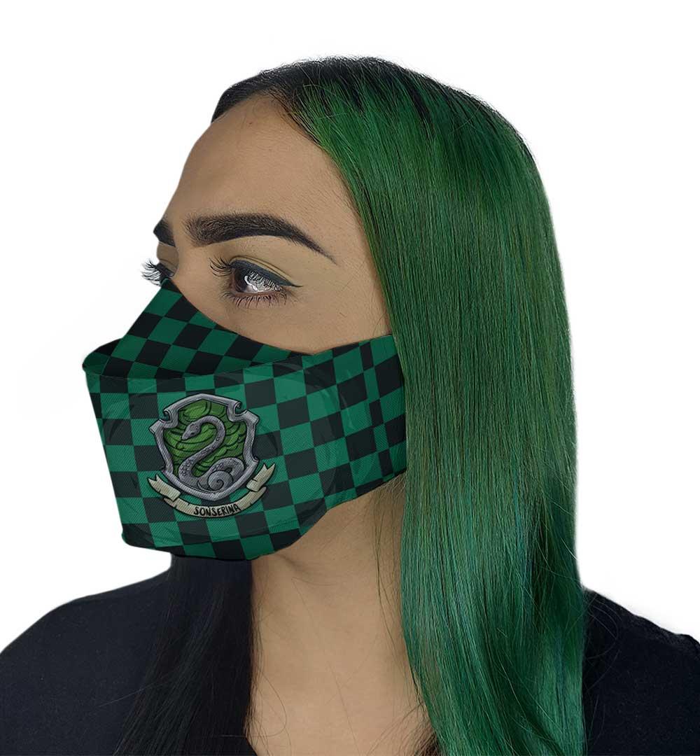 Máscara 3D - Bruxo Verde