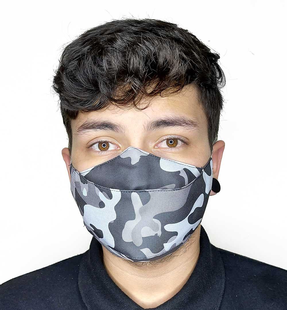 Máscara 3D Camuflado Urbano