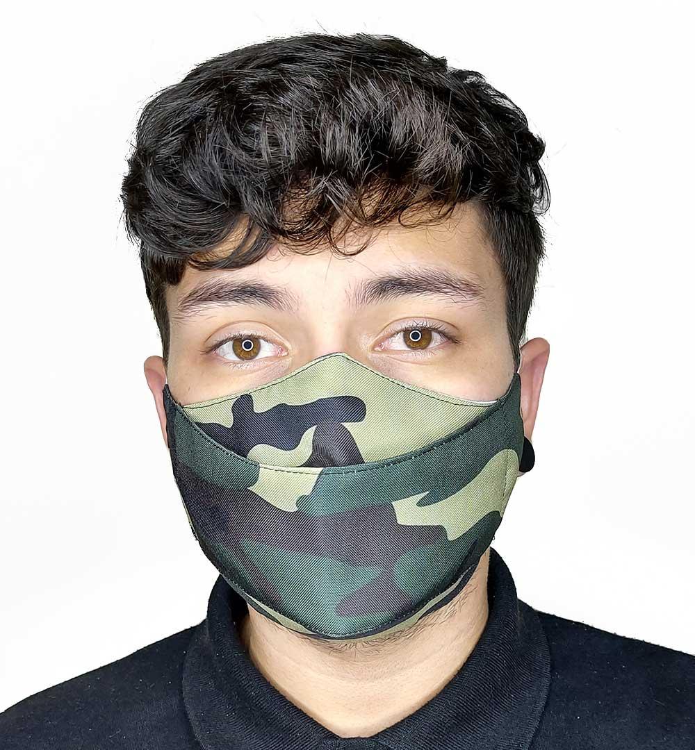Máscara 3D Camuflado Verde